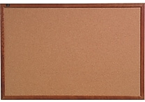 Quartet® Cork Bulletin Board, Oak Finish Frame, 18' x 24'