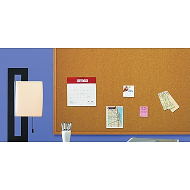 Quartet® Cork Bulletin Board, Oak Finish Frame, 3' x 4'