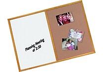Quartet® Combination Board, Dry-Erase & Cork, Oak Finish Frame, 2' x 3'
