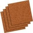 "Quartet® Natural Cork Tiles, Frameless, Modular, 4 Pack, 12"" x 12"""