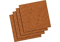 Quartet® Natural Cork Tiles, Frameless, Modular, 4 Pack, 12' x 12'