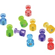 Quartet® Magnetic Push Pins, High Power Magnets, Bright Colors, 10 Pack