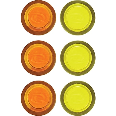 Staples® Translucent Magnets, 6/Pack