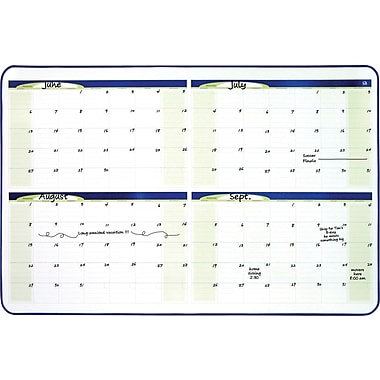 Quartet® 4-Month Dry-Erase Planner Board, Black Frame, 23in. x 35in.