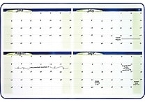 Quartet® 4-Month Dry-Erase Planner Board, Black Frame, 23' x 35'