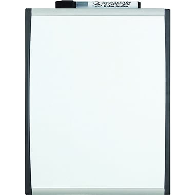 Quartet® Magnetic Dry-Erase Board, Black/Silver Frame, 8.5in. x 11in.