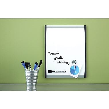 Quartet® Magnetic Dry-Erase Board, Black/Silver Frame, 11in. x 14in.