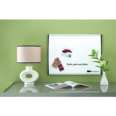 Quartet® Magnetic Dry-Erase Board, Black/Silver Frame, 17in. x 23in.