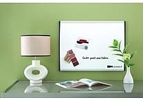 Quartet® Magnetic Dry-Erase Board, Black/Silver Frame, 17' x 23'