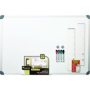 Quartet Magnetic Dry-Erase Board, Euro Style Aluminum Frame, 2' x 3'