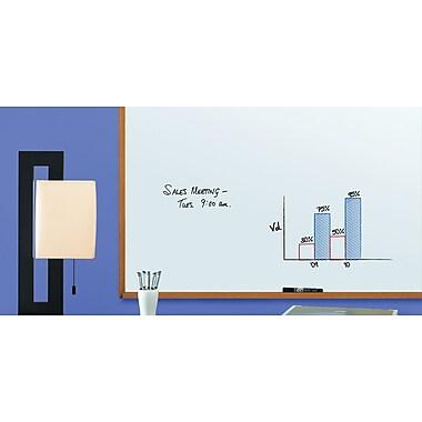 Quartet® Dry-Erase Message Board, Natural Oak Frame, 3' x 4'