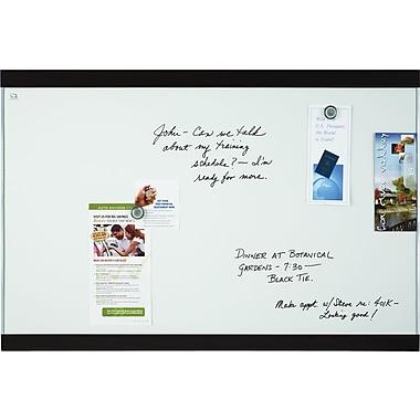 Quartet® Magnetic Dry-Erase Board, Mahogany Finish and Aluminum Frame, 2' x 3'