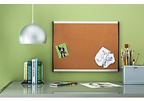 Quartet® Cork Bulletin Board, Black/Silver Frame, 17' x 23'