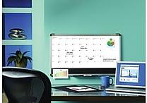 Quartet® Magnetic Combination Calendar Board, Dry-Erase 1-Month Calendar & Tackable Foam Surfaces, Aluminum Frame, 18' x 30'
