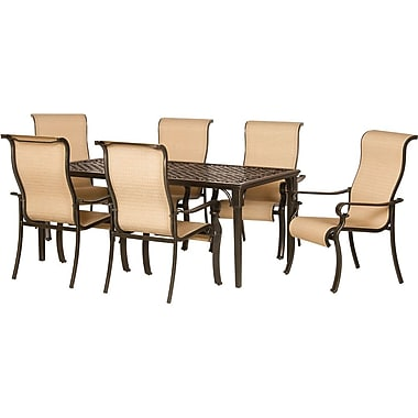 Hanover Brigantine Outdoor Dining Set, 7 Piece