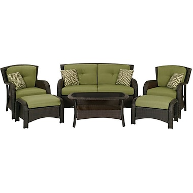 Hanover Strathmere Deep Seating Patio Set, 6 Piece