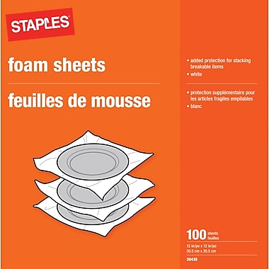 Staples 12 x 12 Foam Sheets, 12