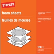 "Staples 12 x 12 Foam Sheets, 12"" x 12"", 100 Sheets/Pack (30435)"