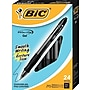 BIC® Velocity® Retractable Gel-Ink Pens, Medium Point, Black