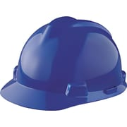 MSA Safety® V-Gard® Slotted Protective Caps and Hats, Polyethylene, Standard, Staz-On, Cap, Blue