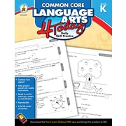 Carson-Dellosa™ Common Core Language Arts 4 Today Workbook, Grade K