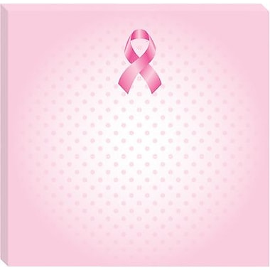 Post-it® Notes for Breast Cancer Awareness, 3in. x 3in., Pink, 3/Pack