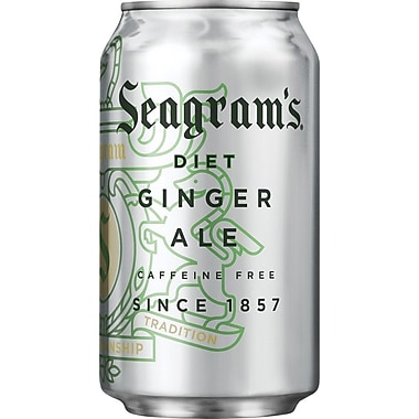 Seagram's Diet Ginger Ale, 12 oz. Cans, 24/Pack