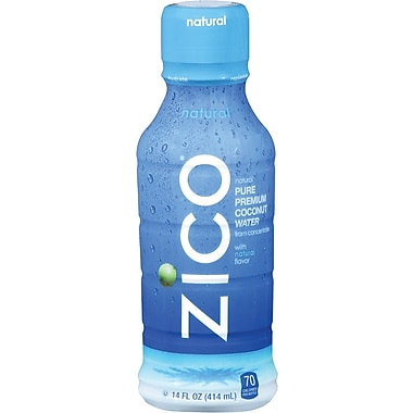 Zico Natural Coconut Water, 14 oz, 12/case