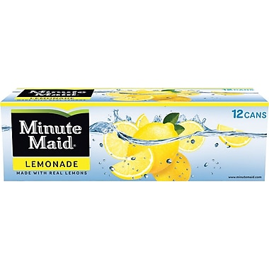 Minute Maid Lemonade, 12 oz. Cans, 24/Pack
