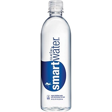 Glaceau Smart Water, 20 oz., 24 Bottles/Pack