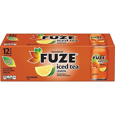 Fuze Lemon Iced Tea, 12 oz. Cans, 12/Pack