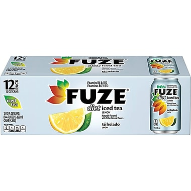 Fuze Diet Lemon Iced Tea, 12 oz. Cans, 12/Pack