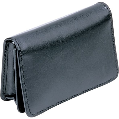Bugatti - porte-cartes professionnelles/de crédit Card Bind, cuir véritable, noir