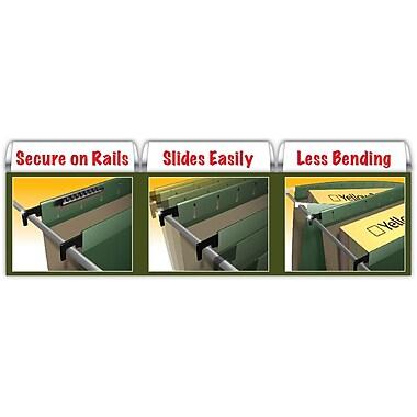 Pendaflex® SureHook® Reinforced Hanging File Folders, 5 Tab Positions, Letter Size, Yellow, 20/Box (6152 1/5 YEL)