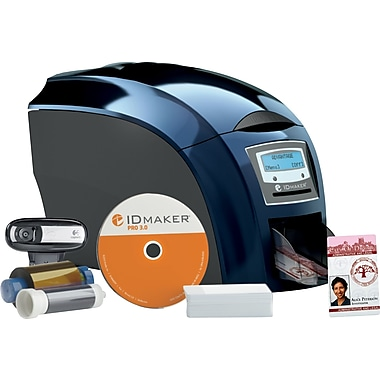 2-Sided IDville Business+ Edition ID Badge Printer Kit