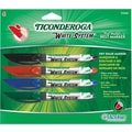 Dixon® Ticonderoga® Dry-Erase Markers, Fine Tip, Assorted, 4/Pack