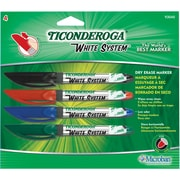 Dixon Ticonderoga Fine Point Dry-Erase Marker, Assorted, 4/Pack