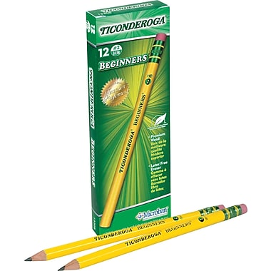 Dixon Primary-Size Wood Case Beginner Pencils, No. 2, Dozen