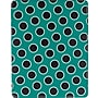 M-Edge Slim Case for iPad 4/3/2, Teal Dots
