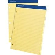 "Ampad® Dual-Pad, 8-1/2"" x 11-3/4"", Canary, Notepad, Wide Ruled"