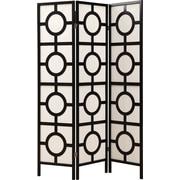 "Monarch 3-Panel ""Circle Design"" Folding Screen"