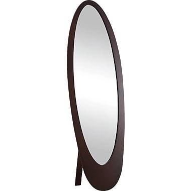 Monarch Contemporary Oval Cheval Mirror, Cappuccino
