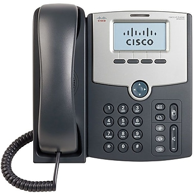 Cisco® 1-Line IP Phone with 2 Port GBE Switch POE LCD Display