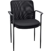 Staples Roaken® Mesh Guest Chair with Arms, Black
