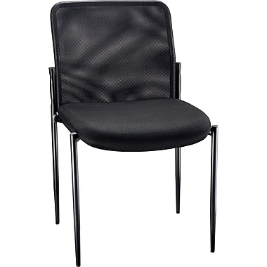 staples roaken mesh guest chair without arms black staples