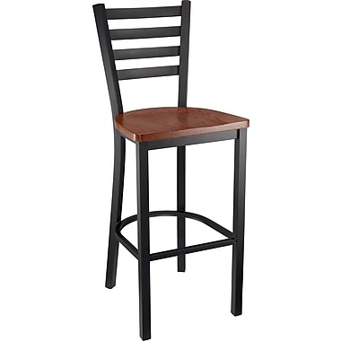 Staples Bistro Stool Wood, Hazelwood
