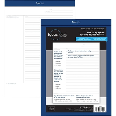 TOPS® TOPS FocusNotes™ Letter Size Pad, 8-1/2