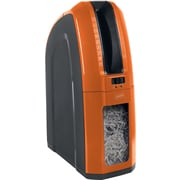 Staples®  Space-Saver 10-Sheet Cross-Cut Shredder, Orange