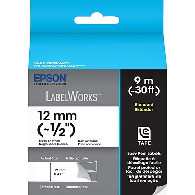 Epson LC-4WBN9 Label Tape 1/2 inch Cartridge Black on White