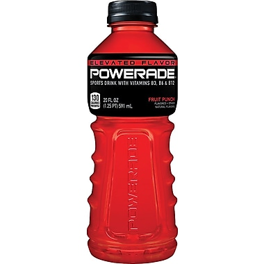Powerade Sports Drink, Fruit Punch, 20 oz., 24 Bottles/Pack